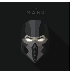 Mask villain into flat style graphics art vector image vector image