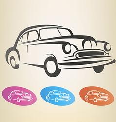 Old retro car symbol vector