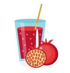 Pomegranate juice in a glass Fresh isolated on vector image
