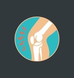 symbol of knee joint bones for orthopedic vector image