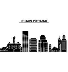 usa oregon portland architecture city vector image