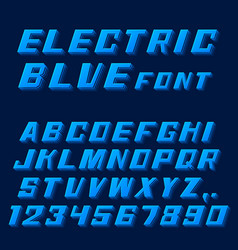 electric blue font letters and numbers vector image vector image