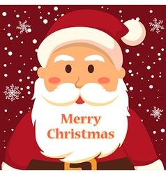 Full Face Santa Merry Christmas vector image vector image