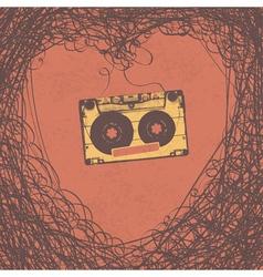 loving retro music poster design vector image