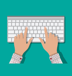 modern aluminum computer keyboard vector image vector image