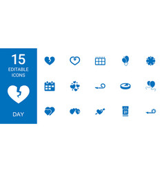 15 day icons vector