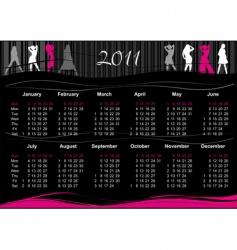 2011 fashion calendar vector image