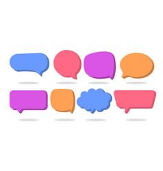 3d speech bubble shapes set vector