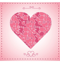 Abstract modern heart background - card vector