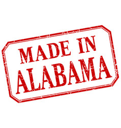 Alabama - made in red vintage isolated label vector