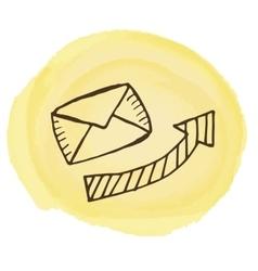 An arrow watercolor doodle vector