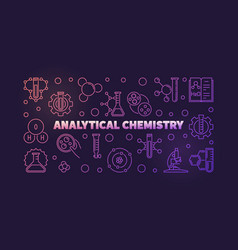 Analytical chemistry colored outline vector