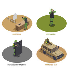 Armed forces compositions set vector