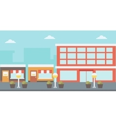 Background of city street vector image