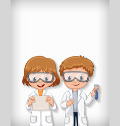 Background template design with happy science vector