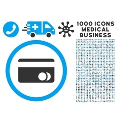 Banking Card Icon with 1000 Medical Business vector image