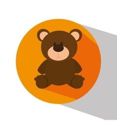 Bear teddy isolated icon vector