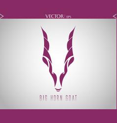 big horn goat logo vector image