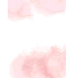 Blush pink watercolor fluid painting design card vector