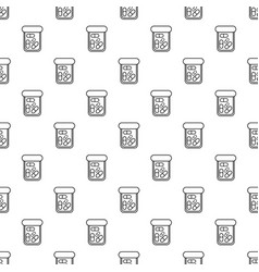 bottle drug pattern seamless vector image