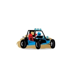 Buggy race car sign vector
