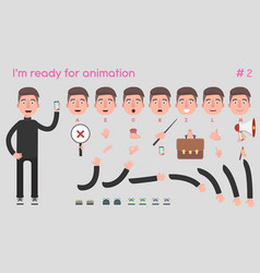Businessman character for creating scenes vector