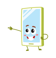 cartoon mobile phone smartphone character vector image
