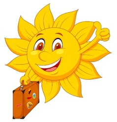 Cartoon sun travelle vector image