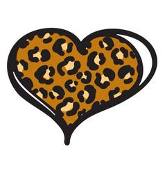 Cheetah heart print object isolated on vector