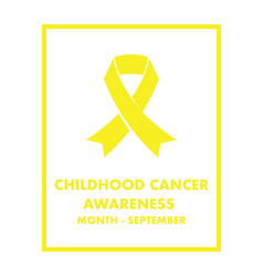 Childhood cancer awareness vector
