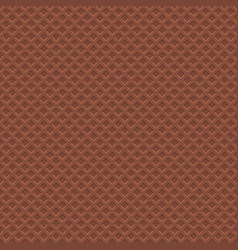 chocolate waffle texture pattern seamless vector image