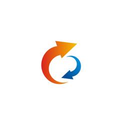 Circle arrow colored logo vector