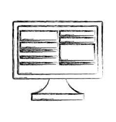computer monitor screen vector image
