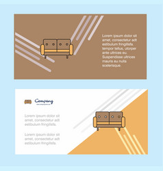 couch abstract corporate business banner template vector image