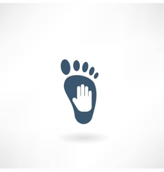 creative foot care icon vector image vector image