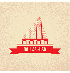 dallas usa detailed silhouette vector image