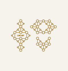 decoration element line art design for vector image