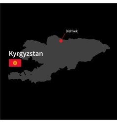 Detailed map of Kyrgyzstan and capital city vector image