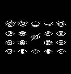 different eyes signs vector image