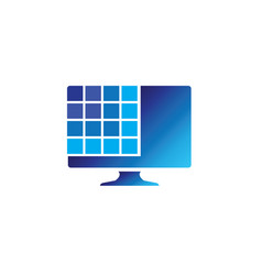 digital screen with squares for logo design vector image