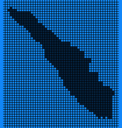 Dotted pixel sumatra island map vector