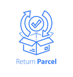 Fast processing store order parcel shipment vector