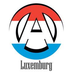 flag of luxembourg of the world in the form of a vector image
