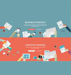 flat concepts for business and creative process vector image
