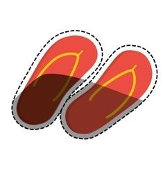 Flip flops beach sandals vector