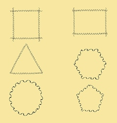 Geometric wavy frames vector