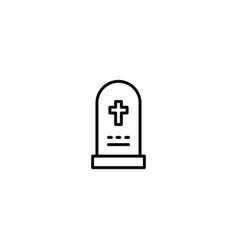 gravestone graveyard icon vector image