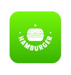 hamburger icon green vector image