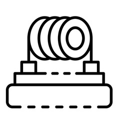 Heating coil cigarette icon outline style vector