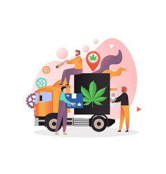hemp delivery concept for web banner vector image